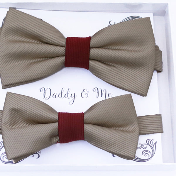 Champagne Bow tie set daddy son, Daddy Grandpa and Me Father son matching, Kids adult bow tie, Adjustable pre tied bow High quality