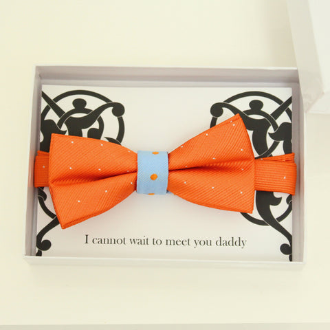 Orange and blue Bow Ties, kids bow tie, ring bearer bow tie, baby announcement, Orange bow tie, Ring bearer request gift, birthday gift