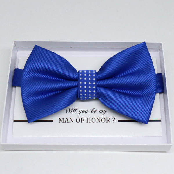 Royal blue bow tie, Best man request gift, Groomsman bow tie, Man of honor gift, Best man bowtie, best man gift, man of honor request, Thank