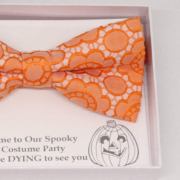 Orange flower bow tie, Best man request gift, Groomsman bow tie, Man of honor gift, Best man bowtie, best man gift, man of honor request bow
