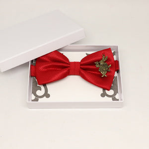 Red bow tie, Best man request gift, Groomsman bow tie, Ring Bearer bow tie, Alice in wonderland, baby announcement, toddler bow, Rabbit