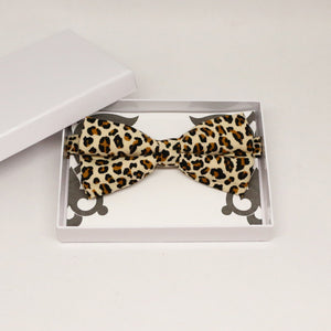 Leopard bow tie, Best man request gift, Groomsman bow tie, Man of honor gift, Best man bowtie, best man gift, man of honor request, thankyou
