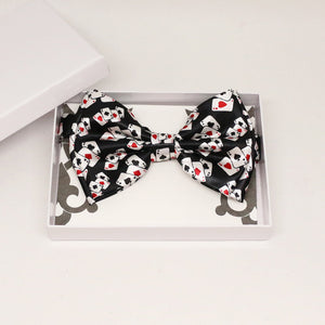 Black playing card bow tie, Best man request gift, Groomsman bow tie, Man of honor gift, Poker ace bow tie, lucky bow, Alice in wonderland