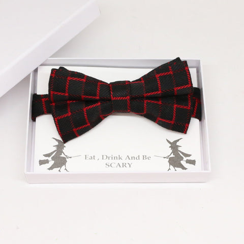 Black Red  bow tie, Best man request gift, Groomsman bow tie, Man of honor gift, Best man bow tie, best man gift, man of honor request bow