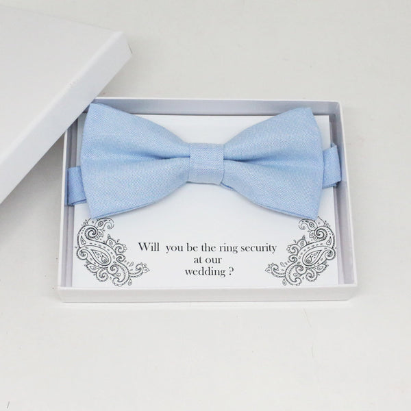 Blue bow tie, Best man request gift, Ring bearer bow tie, Man of honor gift, Best man bow tie, best man gift, some thing blue, Thank you