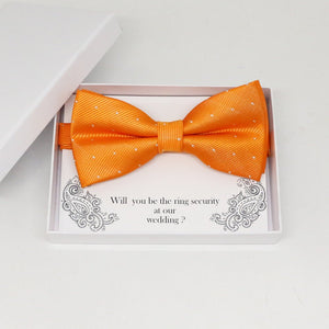 Burnt orange bow tie, Best man request gift, Groomsman bow tie, Man of honor gift, Best man bow tie, best man gift, man of honor request