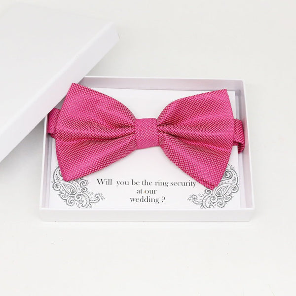Hot pink bow tie, Best man request gift, Groomsman bow tie, Man of honor gift, Best man bow tie, best man gift, man of honor request