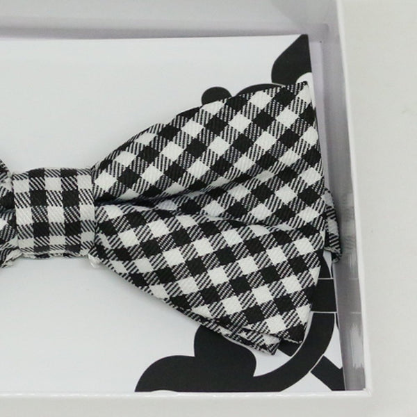 Black white gingham bow tie, Best man request gift, Groomsman bow tie, Man of honor gift, Best man bow, best man gift, man of honor request