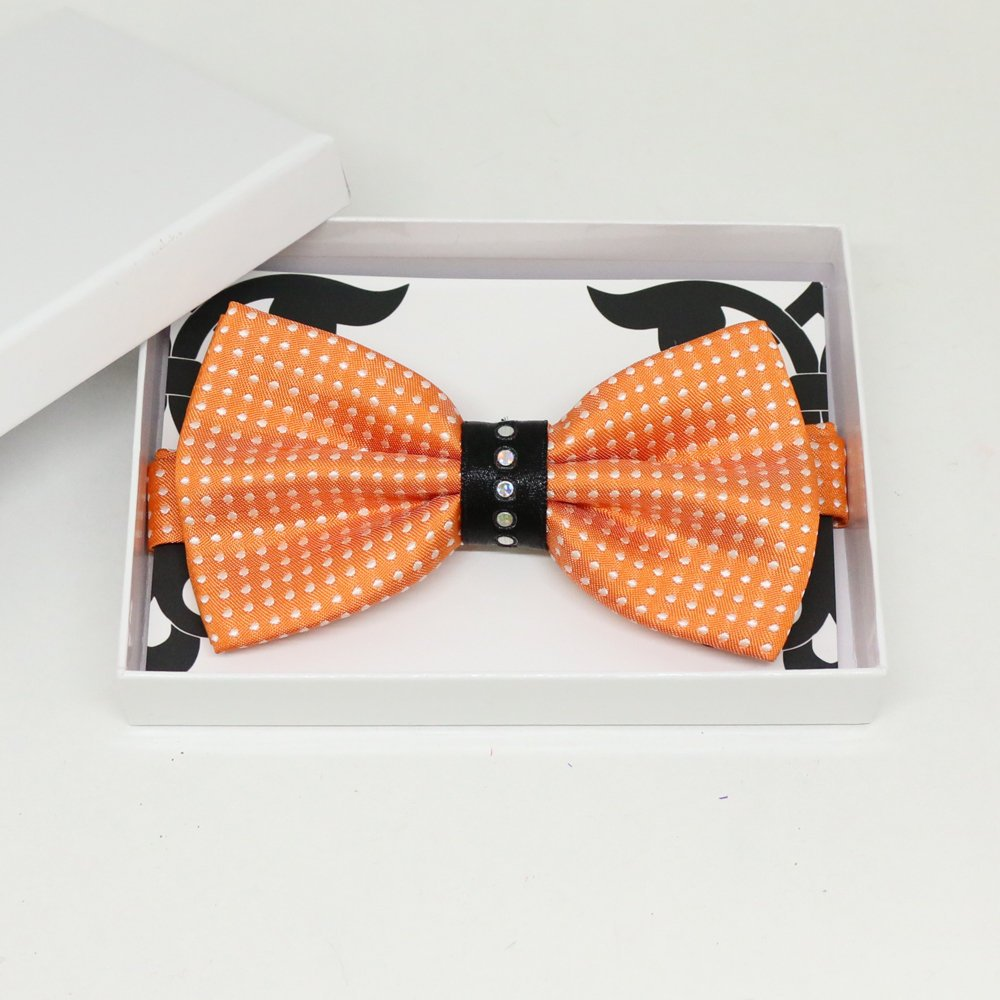 Orange bow tie, Best man request gift, Groomsman bow tie, Man of honor gift, Best man bow tie, best man gift, man of honor request, thankyou