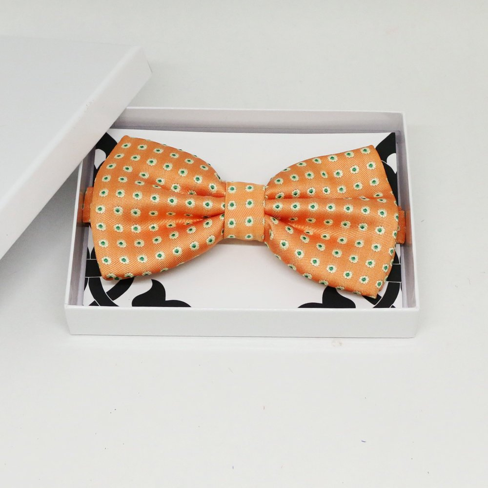Peach floral bow tie, Best man request gift, Groomsman bow tie, Man of honor gift, Best man bow tie, best man gift, man of honor request bow