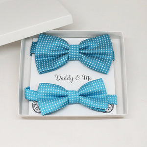 Blue Bow tie set for daddy and son, Daddy me gift set, Grandpa and me, Father son match, Toddler bow tie, daddy me bow tie, some thing blue