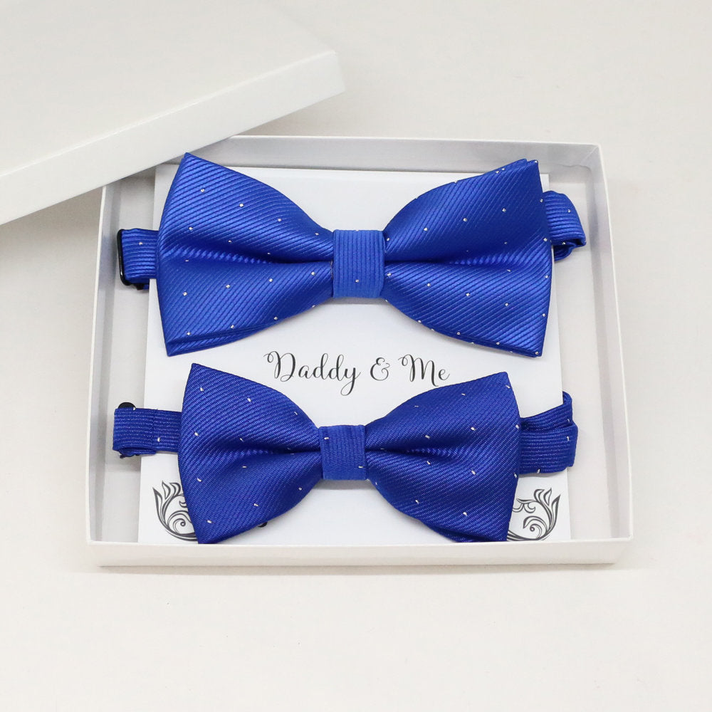Royal blue Bow tie set for daddy and son, Daddy me gift set, Grandpa and me, Father son matching, Toddler bow tie, daddy me bow tie gift, some thing blue