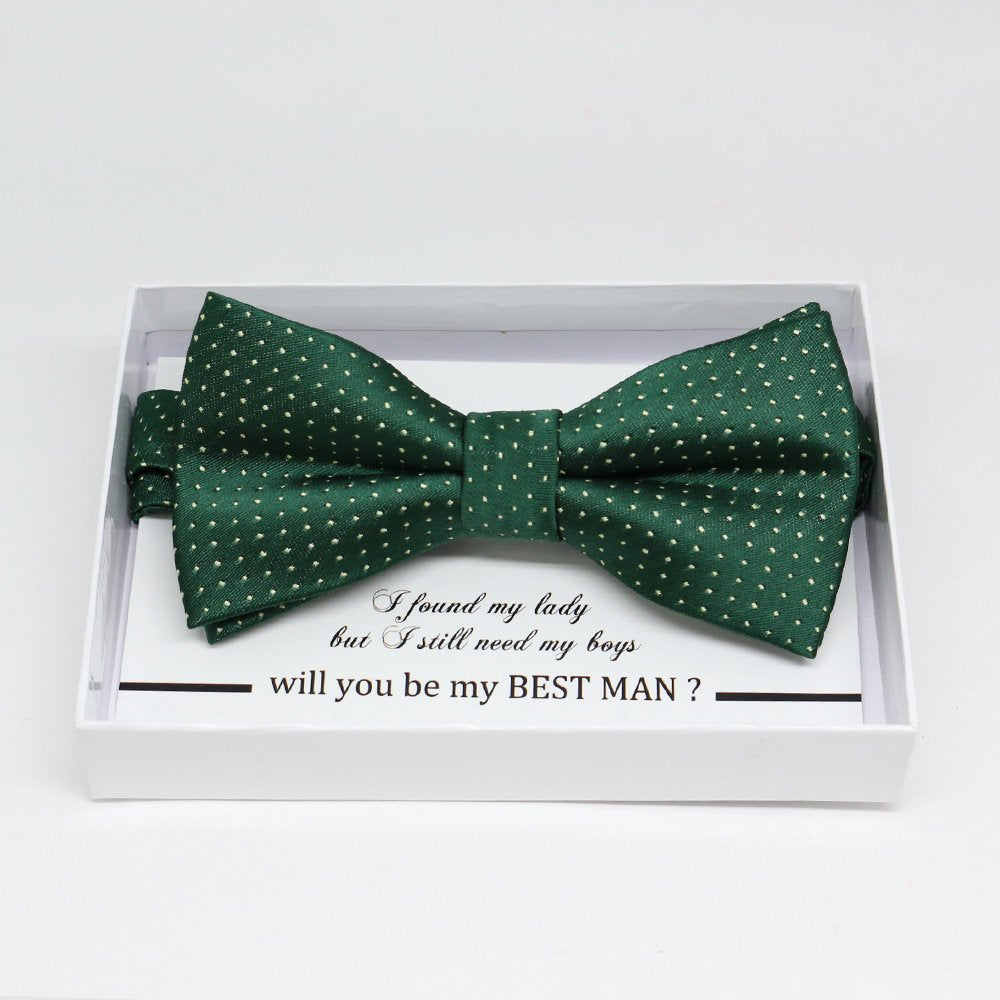 Emerald Green bow tie, Best man request gift, Groomsman bow tie, Man of honor gift, Best man bowtie, best man gift, man of honor request bow