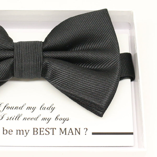 Black bow tie, Best man request gift, Groomsman bow tie, Man of honor gift, Best man bow tie, best man gift, man of honor request, thank you