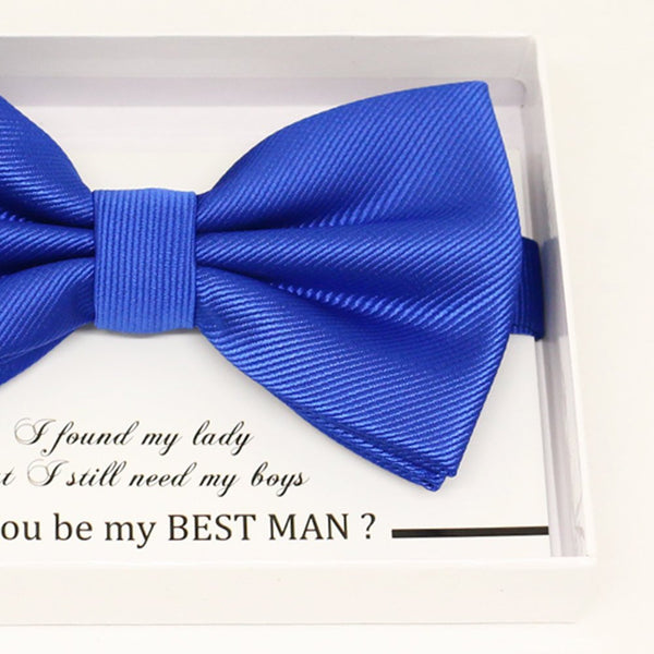Royal blue bow tie, Best man request gift, Groomsman bow tie, Man of honor gift, Best man bow tie, some thing blue, man of honor request