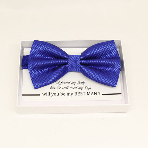 Royal blue bow tie, Best man request gift, Groomsman bow, Ring Bearer bow, Man of honor gift, baby announcement, toddler, some thing blue