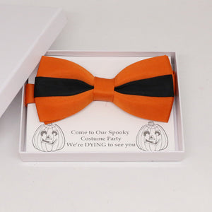 Burnt orange black bow tie, Best man request gift, Groomsman bow tie, Man of honor gift, Best man bow, best man gift, man of honor request
