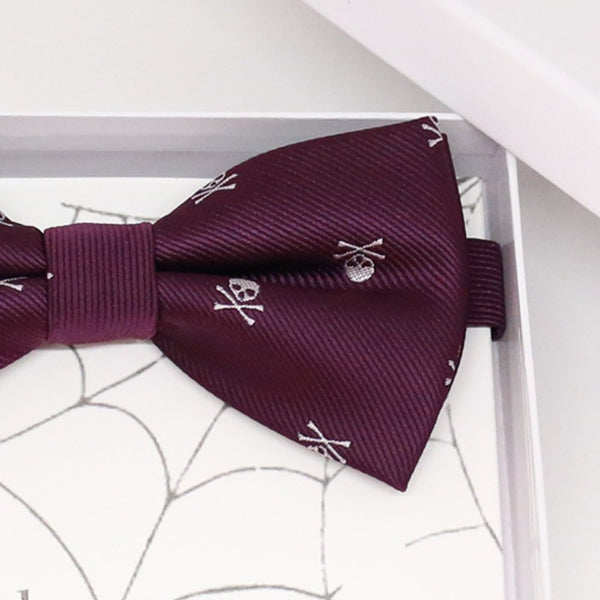 Purple skull bow tie, Best man request gift, Groomsman bow tie, Man of honor gift, Best man bow tie, best man gift, man of honor request bow