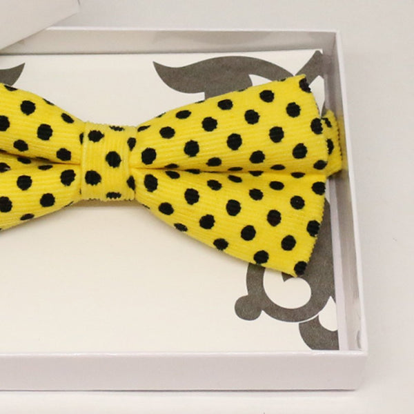 Yellow black bow tie, Best man request gift, Groomsman bow tie, Man of honor gift, Best man bow tie, best man gift, man of honor request bow