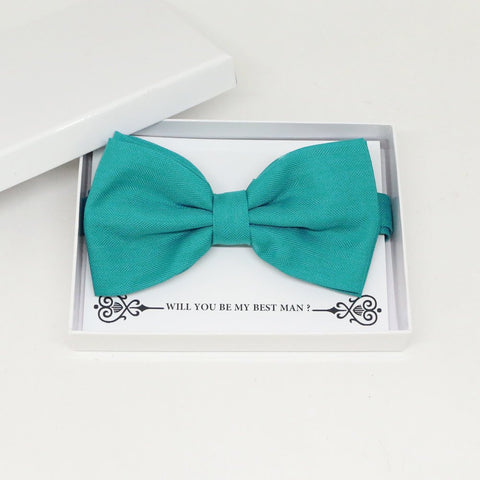 Aqua green bow tie, Best man request gift, Groomsman bow tie, Man of honor gift, Best man bow tie, best man gift, man of honor request