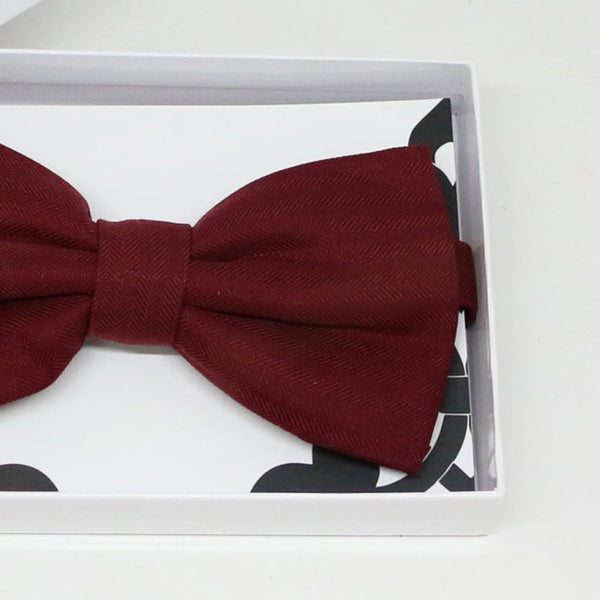 Burgundy bow tie, Best man request gift, Groomsman bow tie, Man of honor gift, Best man bow, best man gift, man of honor request, thank you