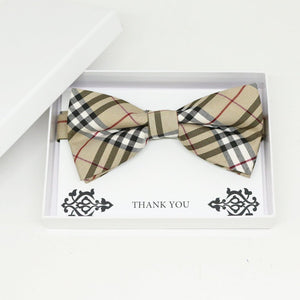 Check plaid bow tie, Best man request gift, Groomsman bow tie, Man of honor gift, Best man bow tie, best man gift, man of honor request