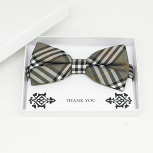 Gray bow tie, Best man request gift, Groomsman bow tie, Man of honor gift, Best man bow tie, best man gift, man of honor request, thank you