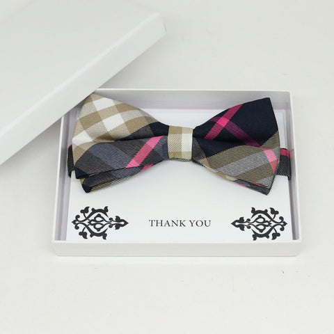 Plaid bow tie, Best man request gift, Groomsman bow tie, Man of honor gift, Best man bow tie, best man gift, man of honor request, thank you