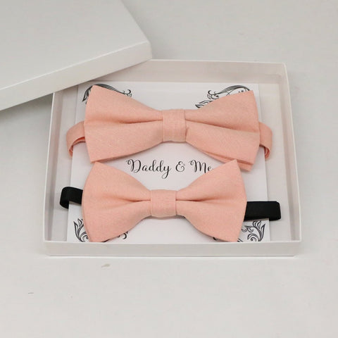 Blush Bow tie set for daddy and son, Daddy and me gift set, Grandpa and me, Father son matching, Toddler bow tie, daddy and me bow tie gift