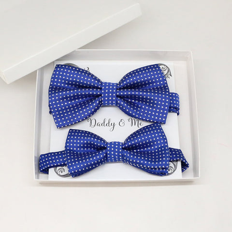 Royal blue Bow tie set for daddy and son, Daddy me gift set, Grandpa and me, Father son match, Toddler bow , daddy me bow, Some thing blue