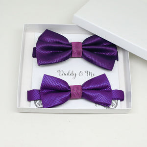 purple bow tie, daddy and me gift set