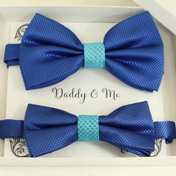Royal blue Bow tie set for daddy and son, Daddy and me gift set, Grandpa and me, some thing blue, Toddler bow tie, daddy and me bow tie gift
