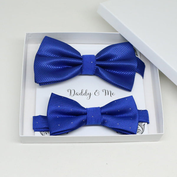 Royal blue Bow tie set for daddy and son, Daddy me gift set, Grandpa and me, Some thing blue, Toddler bow tie, daddy me bow tie, ring bearer
