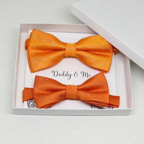Burnt orange Bow tie set for daddy and son, Daddy me gift set, Grandpa and me, Father son matching, Toddler bow tie, daddy me bow tie gift