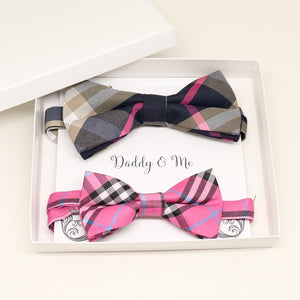 Bow tie set for daddy and son, Daddy me gift set, Grandpa and me, Father son matching, Toddler bow tie, Pink bow tie, daddy me bow tie gift
