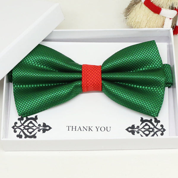 Green Red bow tie, Best man request gift, Groomsman bow tie, Man of honor gift, Best man bow tie, best man gift, man of honor request bow