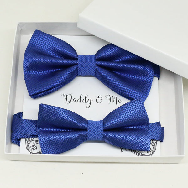 Royal blue Bow tie set for daddy and son, Daddy me gift set, Grandpa me, Father son match, Toddler bow tie, daddy me bow, Some thing blue