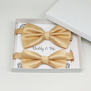 Champagne bow tie set for daddy and son, Daddy and me gift set, Grandpa and me, Father son matching, Toddler bow tie, daddy and me bow tie