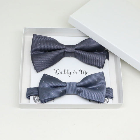 Charcoal Bow tie set for daddy and son, Daddy me gift set, Grandpa and me, Father son matching, Toddler bow tie, daddy me bow tie gift