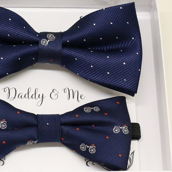 Navy Bow tie set for daddy and son, Daddy me gift set, Grandpa and me, Father son match, Toddler bow tie, daddy me bow tie, some thing blue