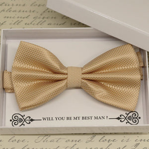 Ivory bow tie, Best man request gift, Groomsman Ivory bow tie, Ring Bearer Ivory bow tie, Man of honor gift, baby announcement, toddler bow