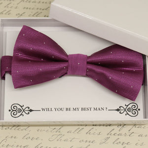 Magenta bow tie, Best man request gift, Groomsman bow tie, Man of honor gift, Best man bow tie, best man gift, man of honor request, thanks