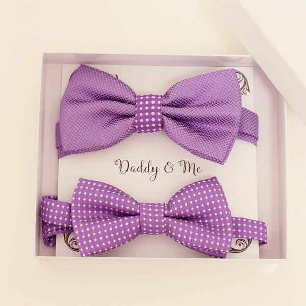 Lavender Bow tie set for daddy and son, Daddy and me gift set, Father son matching, lavender kids bow, daddy me bow tie, handmade gift