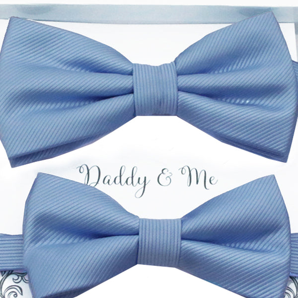 Blue Bow tie set daddy son, Daddy and me gift, Grandpa and me, Father son matching, Kids bow tie, Kids adult bow tie, High quality