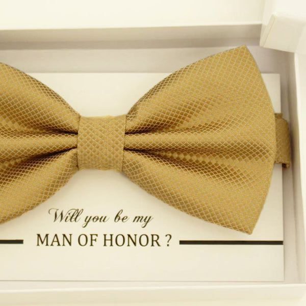 Pale Gold bow tie, Best man gift , Groomsman bow tie, Man of honor gift, Best man bow tie, best man gift, man of honor request