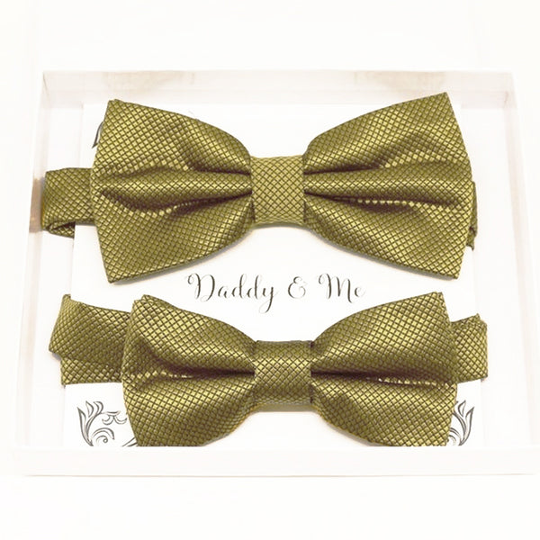 Pale gold Bow tie set daddy son Daddy and me gift Grandpa and me Kids adult bow tie Adjustable pre tied bow Handmade Gold kids bow tie