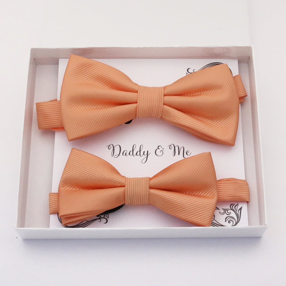 Peach Bow tie set daddy son, Daddy and me gift, Grandpa and me, Father son matching, Kids bow tie, Kids adult bow tie, High quality
