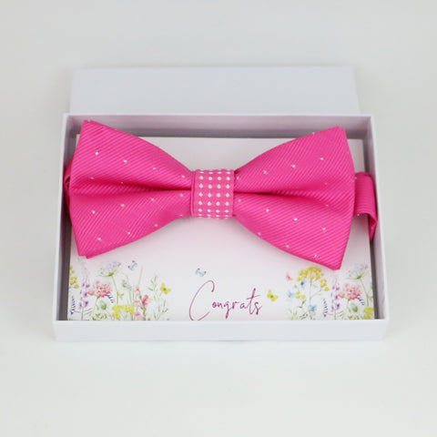 Hot pink bow tie, Best man request gift, Groomsman bow tie, Congrats, Thank you, Best man bow tie, man of honor, Hot pink bow, Birthday gift