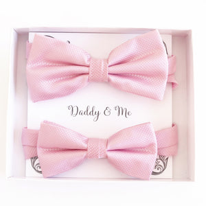Pink Bow tie set for daddy and son, Daddy me gift set, Grandpa and me, Father son match, Toddler bow tie, daddy me bow tie, Ring bearer