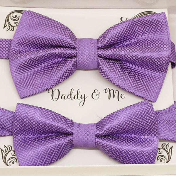 Lavender Bow tie set for daddy and son, Daddy and me gift set, Grandpa and me, lavender Kids Toddler bow, Lavender bow tie set, Purple bow